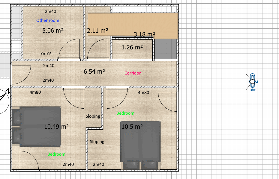 Sloping Walls And Multiple Ceiling Heights Sweet Home 3d Forum View Thread